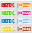Blog Tabs vector image vector image