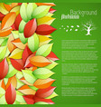 bright seasonal floral poster vector image vector image