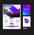 brochure template with trend gradient vector image vector image