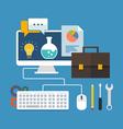 Business development concept Flat design stylish vector image vector image