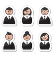 Business people icons set - labels vector image vector image