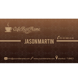 Cafe bar business card vector image vector image