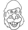 cartoon gorilla vector image vector image