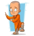 Cartoon young buddhist monk vector image vector image