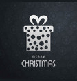 christmas card with pattern background and snow vector image vector image