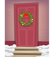 Christmas New Year Dinner Celebration Door Vintage vector image