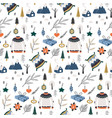 christmas seamless pattern in scandinavian style vector image