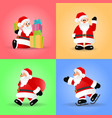christmas set of santa claus vector image