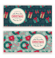christmas toys pattern and greeting text vector image vector image