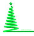 christmas tree ribbon banner eps 10 illu vector image vector image