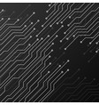 circuit board on black background vector image vector image