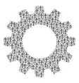cogwheel collage of christian cross icons vector image vector image