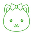 cute and tender female hamster kawaii style vector image vector image