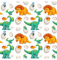 cute dinosaur seamless background vector image vector image