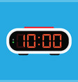 digital alarm clock icon vector image vector image