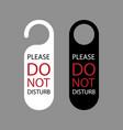 do not disturb door hanger icon vector image vector image