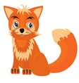 Drawing of the fox on white background vector image vector image