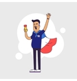 Fan of France national football team sports vector image