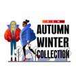 fashion concept banner with trendy girl vector image vector image