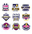 flash electrical storm company logo design vector image vector image