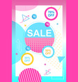 flat banner sale 50 70 30 percent flyer coupon vector image