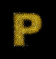 gold dust font type letter p vector image vector image