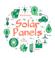 green eco solar panel concept vector image