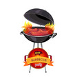grill barbecue party brazier vector image vector image