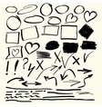 Hand drawn abstract elements
