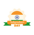 happy independence day india flag color ribbon
