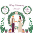 happy wedding day young family getting married vector image vector image