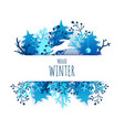 hello winter card hand lettering typography vector image