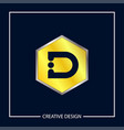 initial letter d logo template design vector image vector image