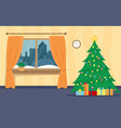 living room decorated for the new year christmas vector image vector image