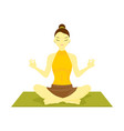lotus pose yoga meditation vector image