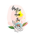 magic inside youinspirational modern ink brush vector image vector image