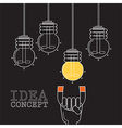 Magnet light bulb of idea vector image vector image