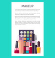 makeup placard and text poster vector image