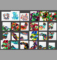 mega collection of low poly triangle mosaic vector image vector image