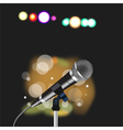 Microphone cord abstract Spotlight vector image