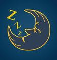 Moon Drawing vector image vector image