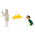 mummy great pyramids and harpy symbols of egypt vector image vector image