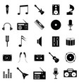 musical icon set vector image vector image
