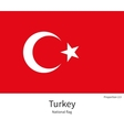 National flag of Turkey with correct proportions vector image