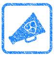 nem megaphone framed stamp vector image