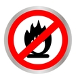 No Fire flame sign icon Fire symbol Stop fire vector image vector image