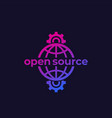 open source software icon vector image