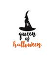 queen halloween emblem logo design holiday vector image vector image