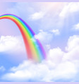 rainbow realistic background vector image vector image