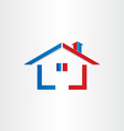 real estate house home icon vector image